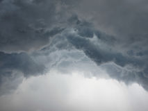 Dramatic cumulonimbus stormy clouds over city Royalty Free Stock Photo