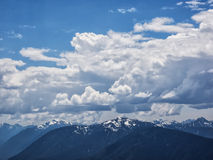 Dramatic cumulus clouds Royalty Free Stock Photos