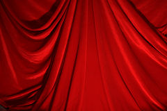 Dramatic curtain Royalty Free Stock Photo