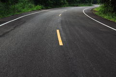 Dramatic curve road. New curve road go to the national park thailand Stock Image