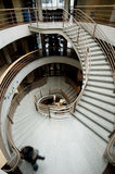 Dramatic curving staircase Stock Image