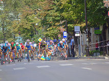 Dramatic cycling stage final Royalty Free Stock Photo