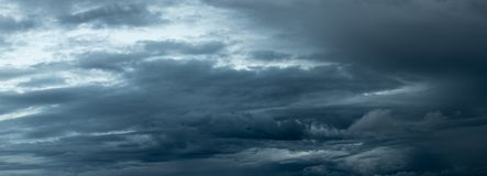 Dramatic dark storm clouds approaching royalty free stock photos