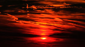 Dramatic dark sunset Royalty Free Stock Images