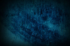 Dramatic dark turquoise old wall - background for grunge design Royalty Free Stock Image