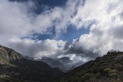 Angeles National Forest Mt Harvard royalty free stock photo