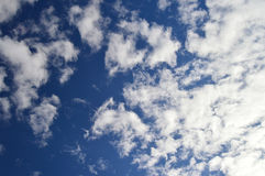 Dramatic Deep Blue Sky And Clouds Royalty Free Stock Photo