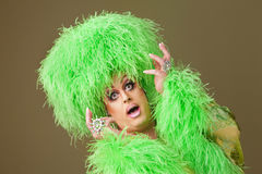 Dramatic Drag Queen Stock Photography