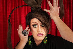 Dramatic Drag Queen Royalty Free Stock Photography