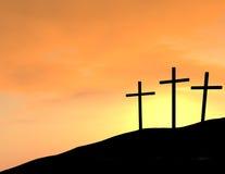 Dramatic Empty Crosses Stock Photos