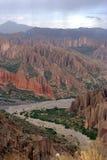 Dramatic escarpment at Tupiza, Bolivia. royalty free stock photography
