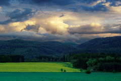Dramatic evening landscape. View of evening dramatic landscape Stock Photo