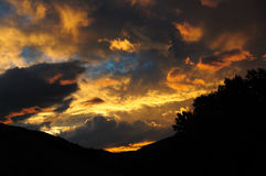 Dramatic evening sky Stock Images