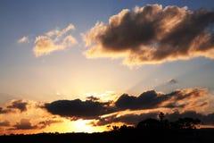 Dramatic evening sunset Stock Images