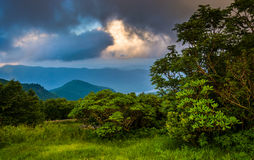 Dramatic evening view of the Blue Ridge Mountains from the Blue Stock Image
