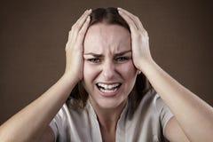 Dramatic expression Stock Image