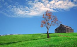 Dramatic Farm Lanscape Royalty Free Stock Photos