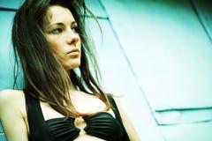 Dramatic female portrait. Stock Images