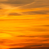 Dramatic fire sunset Royalty Free Stock Photo