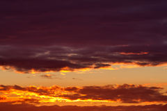 Dramatic fire sunset Royalty Free Stock Photography