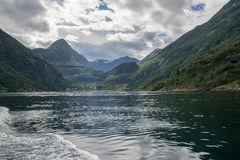 Dramatic fjord landscape in Norway Royalty Free Stock Image