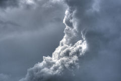 Dramatic fluffy sky Stock Images