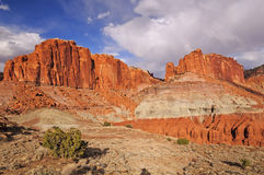 Dramatic Formations in Red Rock Country Stock Images