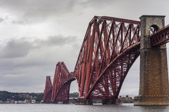 Dramatic Forth Bridge of South Queensfery, Scotland stock image