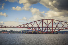 Dramatic Forth Bridge of South Queensfery, Scotland Royalty Free Stock Photos