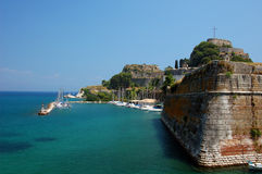 Dramatic fortifications. At the Old Fortress in Corfu Greece Stock Photo