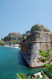 Dramatic fortifications. At the unique Old Fortress in Corfu Greece Stock Photography
