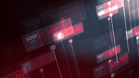 Dramatic futuristic stock market red numbers falling - failing economy concept V2. 1-19-2019 stock footage