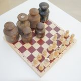 Dramatic game of chess royalty free stock photos