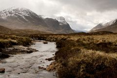 Dramatic Glencoe. A landscape photo of Glencoe, Scotland royalty free stock images