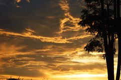 Dramatic golden sky Royalty Free Stock Photo