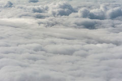 Dramatic grey cloud cover seen from above Stock Image