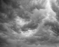 Dramatic grey clouds stock photography
