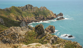 Dramatic Guernsey Coastline. Channel Islands Royalty Free Stock Photo