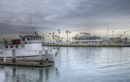 Dramatic HDR Image Boat Harbor Royalty Free Stock Photography