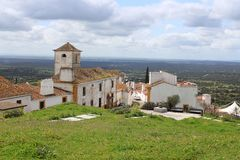 Dramatic hillside at Evoramonte Royalty Free Stock Photos