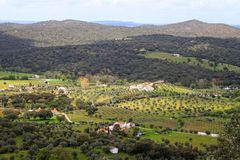 Dramatic hillside at Evoramonte Stock Photography