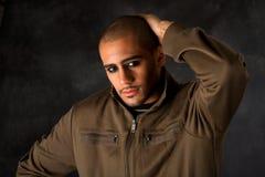 Dramatic Hispanic guy Stock Photo