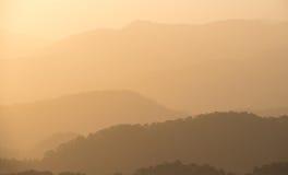 Dramatic idyllic sunset with orange colors Royalty Free Stock Photos