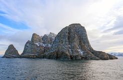 Dramatic Island in the High Arctic Royalty Free Stock Photos