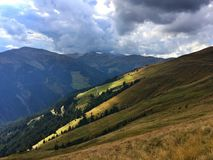 Dramatic landscape in Alps Royalty Free Stock Photos