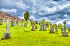 Cille Choirill cemetery stock images