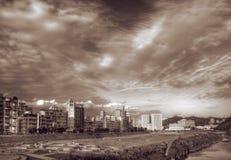 Dramatic landscape of city Stock Photos