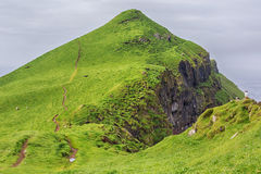 Dramatic landscape on Faroe islands. Stock Photos