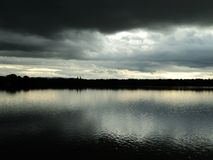 Dramatic landscape with lake Stock Image