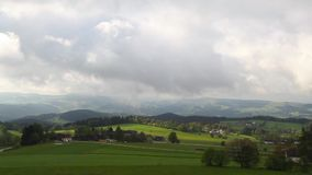 Dramatic landscape before rain in Austria stock video